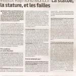 La Semaine - La statue, la stature, et les failles