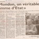 RL - Mondon, un véritable homme d'Etat