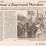 RL - Honneur à Raymond Mondon