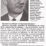 RL 2- Raymond Mondon, sujet d'études