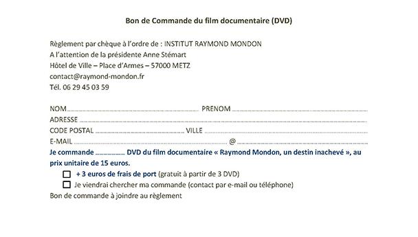 BON DE COMMANDE DVD