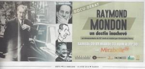 Article Raymond MONDON_La Semaine_du 18 au 24 juin 2015